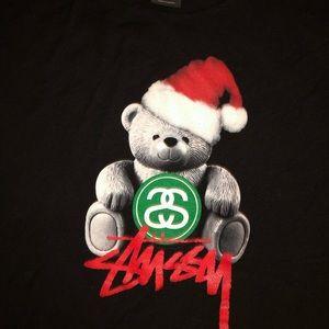 Stussy Christmas Bear T-shirt